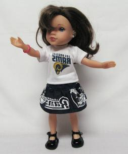 Los Angeles Rams Outfit For 14.5 Inch Doll