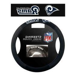 Los Angeles Rams Poly Suede Steering Wheel Cover  NFL Car Tr