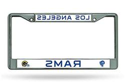 Los Angeles Rams RETRO Chrome Frame Metal License Plate Tag