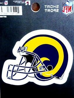 "Los Angeles Rams Retro Helmet 3"" Die Cut Decal Bumper Sticke"