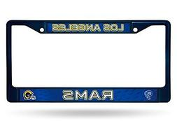Los Angeles Rams RETRO NAVY LBL Chrome Frame Metal License P