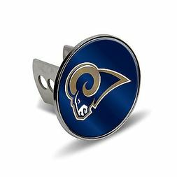 """Los Angeles Rams Rico Metal 2"""" Trailer Hitch Cover Laser Cut"""