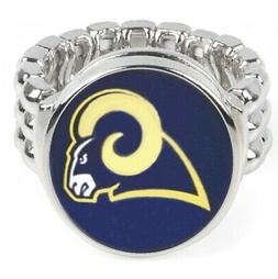 Los Angeles Rams Silver Men's Women's Football Ring Fits All