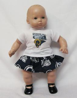 Los Angeles Rams Theme Outfit For 16 Inch Doll