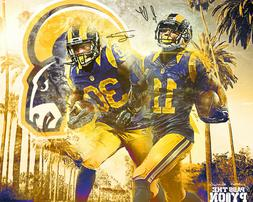 Los Angeles Rams Todd Gurley & Tavon Austin 8x10 Glossy Phot