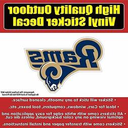 Los Angeles Rams Vinyl Car Window Laptop Bumper Sticker Deca