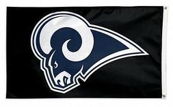 Los Angeles Rams WC BLACK w/Logo Premium 3x5 Flag Outdoor Ho