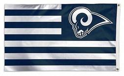 Los Angeles Rams WC STRIPES Americana Premium 3x5 Flag Outdo
