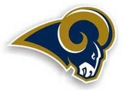"St. Louis Rams 12"" Left Logo Car Magnets - Set of 2"
