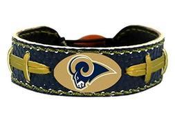 St. Louis Rams Team Color NFL Football Bracelet