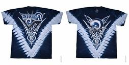New  LOS ANGELES RAMS  Tie Dye V Dye T Shirt  LICENSED NFL T