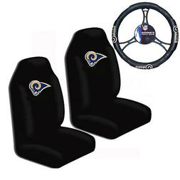 New NFL Los Angeles Rams Car Truck Front Seat Covers & Steer