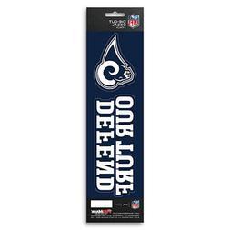 New NFL Los Angeles Rams Die-Cut Vinyl Slogan Decal Pack / B