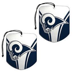 New NFL Los Angeles Rams Paper Hanging Air Freshener 3 pack