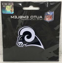 NFL Los Angeles Rams Auto Emblem Metal Color New Sealed Offi