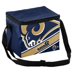 NFL Los Angeles Rams Big Logo Striped 6 pack Cooler Lunch Bo