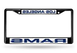 NFL Los Angeles Rams Black Laser Cut Chrome License Plate Fr