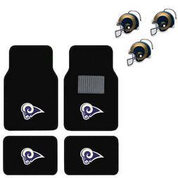 NFL Los Angeles Rams Car Truck Carpet Floor Mats & Hanging A