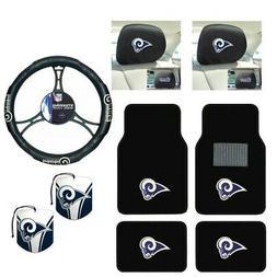 NFL Los Angeles Rams Car Truck Floor Mats Steering Wheel Cov