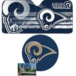 NFL Los Angeles RAMS Car Truck Windshield Folding SunShade &