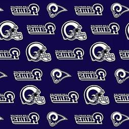 NFL LOS ANGELES RAMS COTTON FABRIC MATERIAL, Fabric Sold By