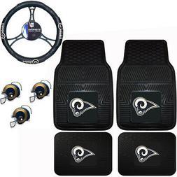 NFL Los Angeles Rams Floor Mats Steering Wheel Cover & Air F