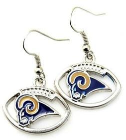 NFL Los Angeles Rams Handmade Football Dangling Earrings  Fi
