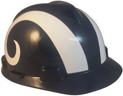 NFL Los Angeles Rams Hard Hat - MSA V-Guard HardHat with Pin