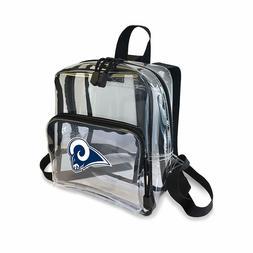 "NFL ""X-Ray"" Mini Transparent Backpack, Black  9""  Los Angele"