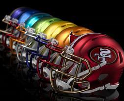 """""HELMET SHAPED DECAL"""" - NFL BLAZE - QUALITY VINYL 3x3 inch"
