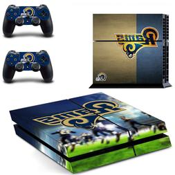 PS4 ORIGINAL - Los Angeles Rams - Console Skin Decal + 2 Con
