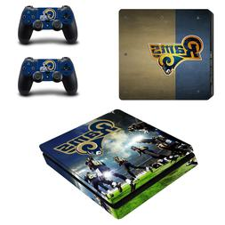 PS4 SLIM - Los Angeles Rams - Vinyl Protector Skin + 2 Contr
