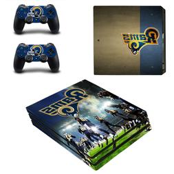 Sony PS4 PRO - Los Angeles Rams - Vinyl Skin + 2 Controller