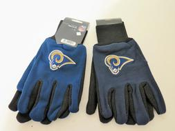 TWO  PAIR OF LOS ANGELES RAMS ,SPORT UTILITY GLOVES FROM FOR